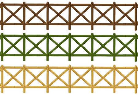 Naadloze houten hek ontwerp illustratie