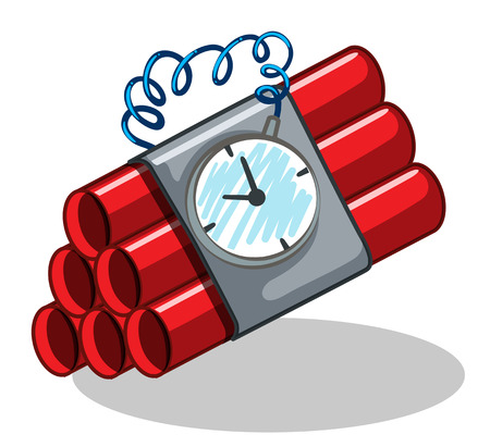tnt: Bomb wrapped with timer illustration Illustration