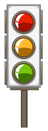 traffic pole: Traffic lights with pole illustration