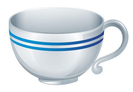 chinaware: Coffee cup on white background illustration