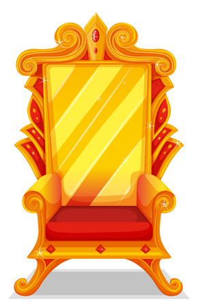 armchair: Throne made of gold illustration