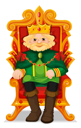 throne: King sitting in the throne illustration