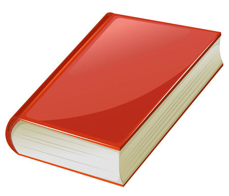 graphic novel: Textbook with red covers illustration