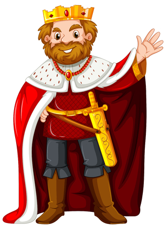 robe: King wearing red robe illustration