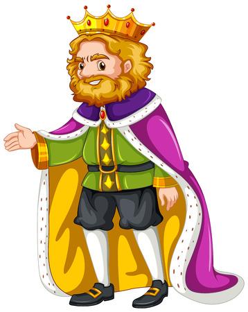 Robe: King wearing purple robe illustration Illustration