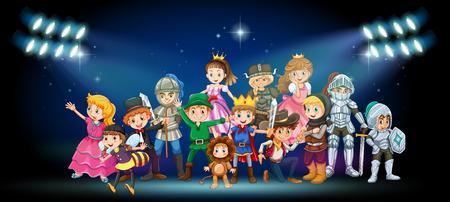 Acteurs en costumes sur scène illustration Banque d'images - 56549089