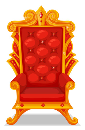 fantacy: Throne made of gold illustration