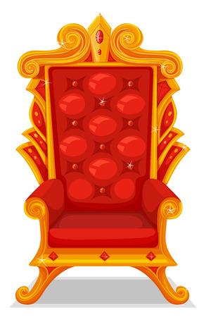 trono: Trono hecho de ilustración de oro Vectores
