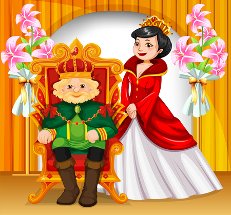 actor: King and queen wearing crowns illustration