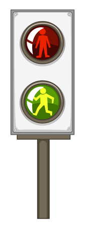 red traffic light: Traffic light with green and red lights illustration
