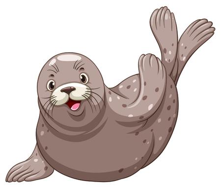sellos: Sello con la cara feliz ilustración