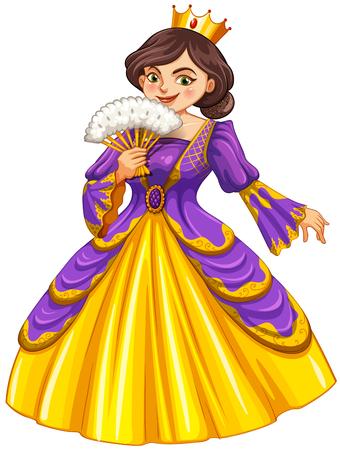 golden crown: Queen wearing golden crown illustration