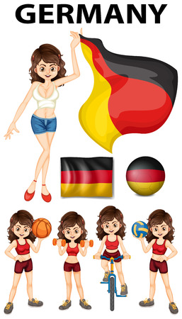 representative: Germany representative and many sports illustration