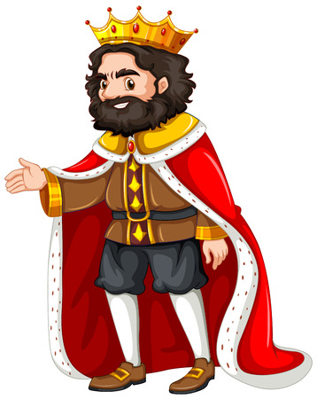 robe: King with red robe illustration Illustration