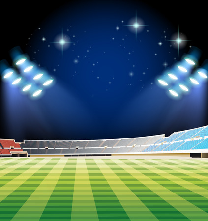 outdoor seating: Football field and stadium illustration