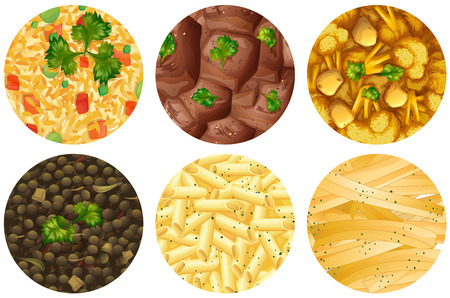 curry rice: Different kind of food  illustration