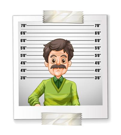 persona mayor: photo El hombre con la ilustración de medición de la altura Vectores
