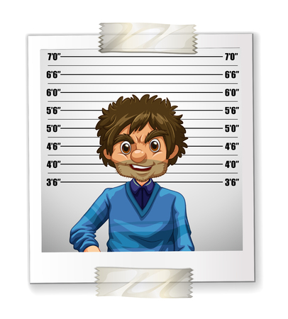 identification card: Photo of man on identification card illustration