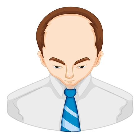 Man with hair loss problem illustration