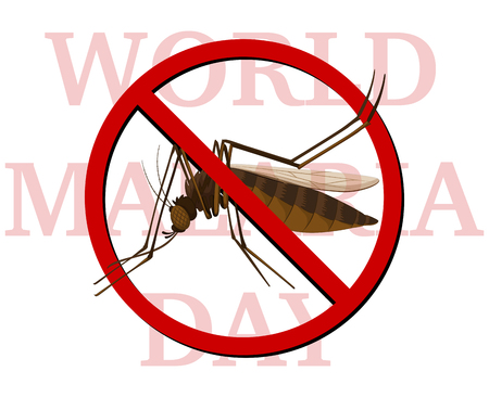 infected mosquito: World malaria day poster with no mosquito illustration