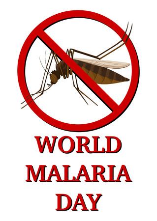 malaria: Sign for world malaria day illustration