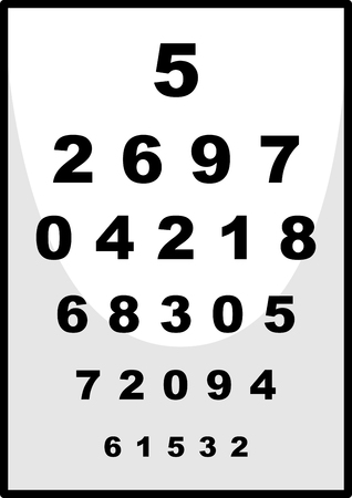numbers clipart: Number chart used for ophthalmologist illustration Illustration