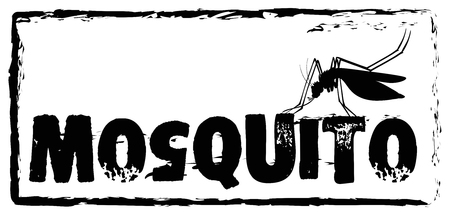 infectious disease: Sign saying mosquito in black color illustration Illustration