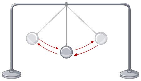 gravedad: bolas de gravedad que muestran la conservaci�n de la energ�a ilustraci�n Vectores