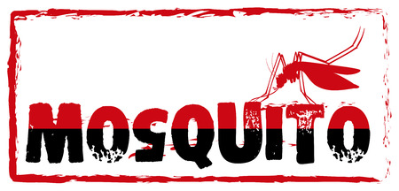 infectious disease: Sign with mosquito and wording illustration
