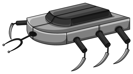 moder: Robot machine with many legs illustration Illustration