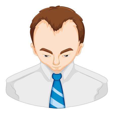 hair problem: Man with hair loss problem illustration
