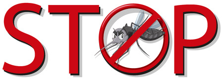 stop mosquito sign: Stop mosquito sign on white background illustration