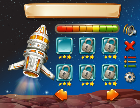 unidentified: Game template with space background illustration