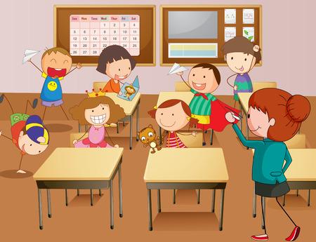 profesor alumno: Profesor y estudiantes de ilustración de la escuela