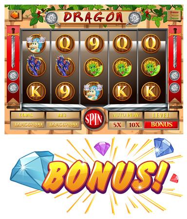bonus: Game template with bonus award illustration