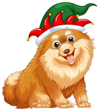 Fee Partei Trägt Hut Für Weihnachten Illustration Lizenzfrei ...