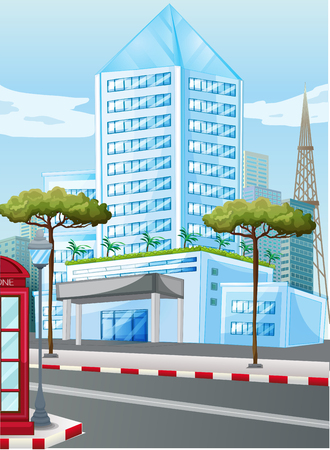 tall buildings: Tall buildings in the city illustration