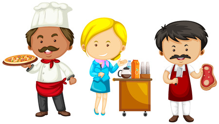 occupations: Set of different occupations illustration Illustration