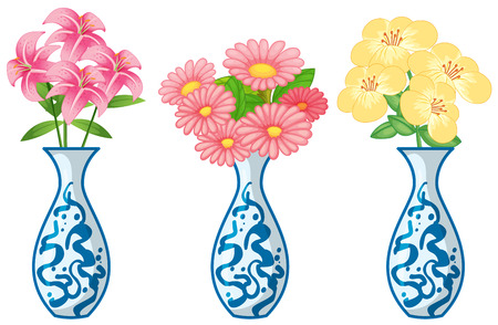 ceremic: Flowers in ceremic vase illustration Illustration