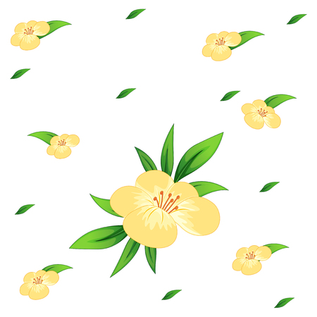 Seamless  bacground design with flowers illustration