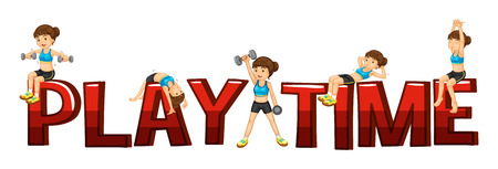 play time: Font design for word play time illustration Illustration