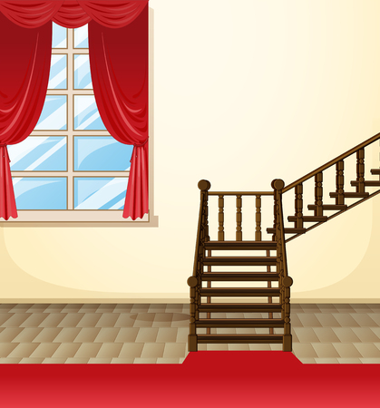 house drawing: Room in the house illustration