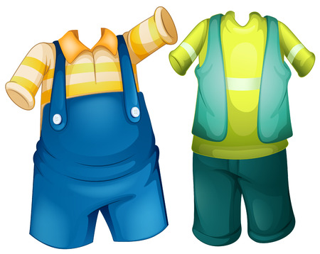 outfit: Children outfit in two designs illustration