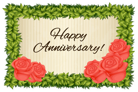 Happy anniversary card template with red roses illustration royalty happy anniversary card template with red roses illustration stock vector 70583668 maxwellsz