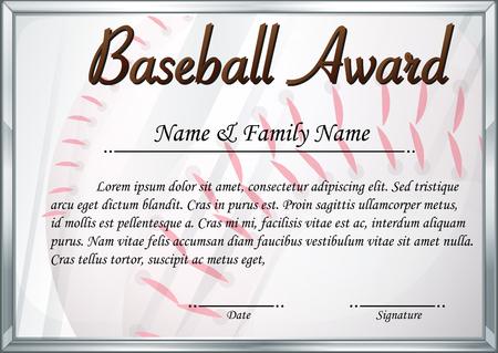 Groß Baseball Zertifikatvorlage Bilder - zertifizierungsstelle ...