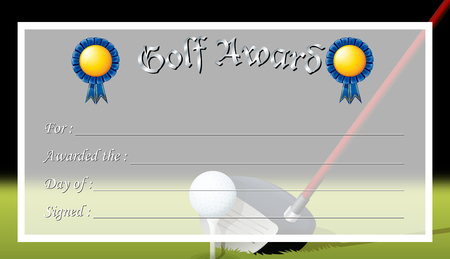 Certificate award for golf award illustration royalty free certificate template for golf award illustration vector yelopaper Image collections