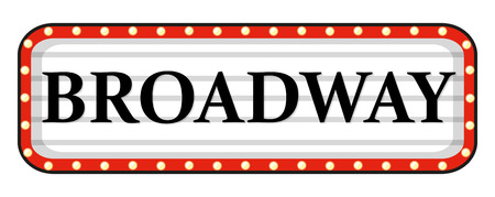 red sign: Broadway sign with red frame illustration Illustration