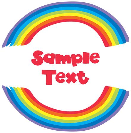 Sample text with rainbow background illustration Illustration