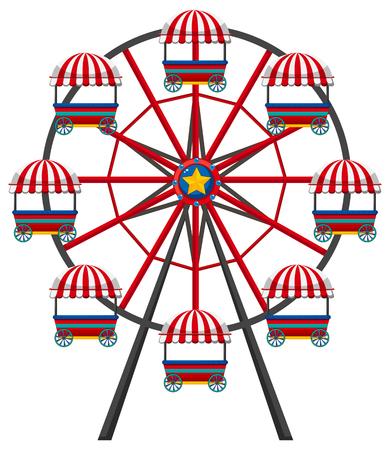 Ferris wheel on white background illustration Illustration