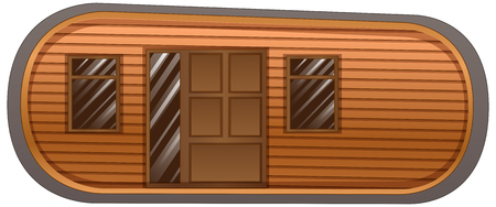windows home: Mobile home with windows and door illustration Illustration